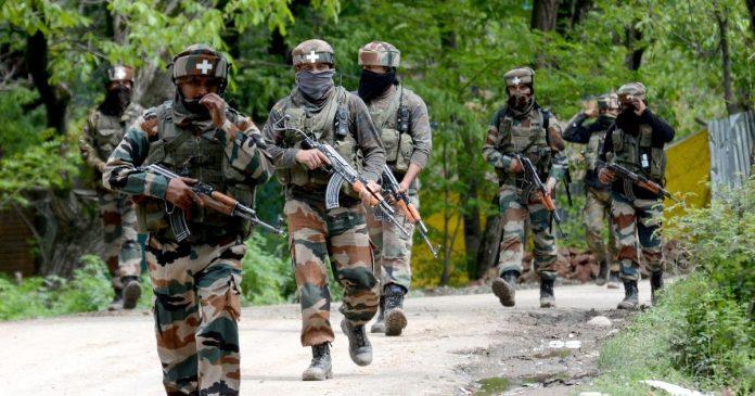 3 terrorists encountered in the jammu & kashmir