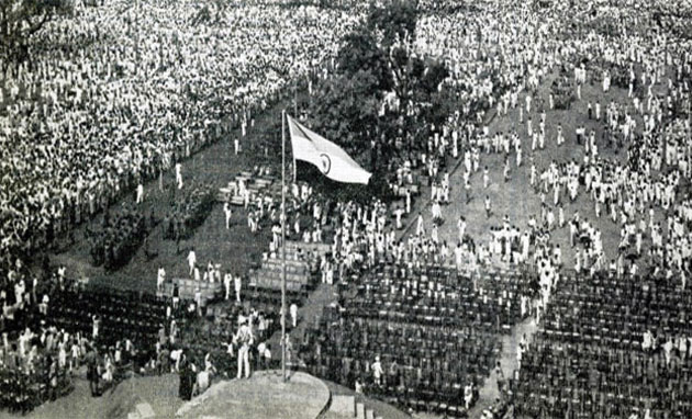 india got independence at midnight of 15th