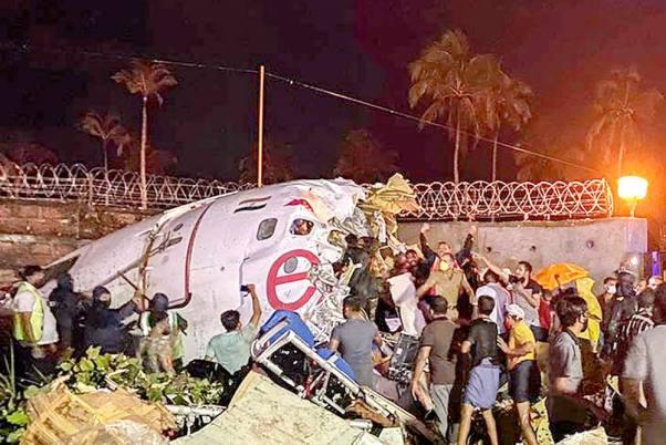 Air crash in kerala of Air India flight