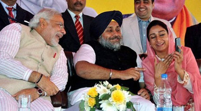 Old friend Akali Dal left the coalition after the government.